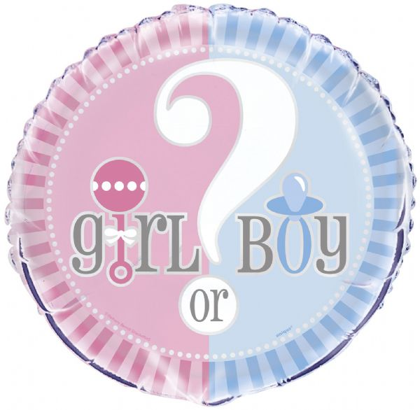 Baby Shower - Girl or Boy Foil Balloon